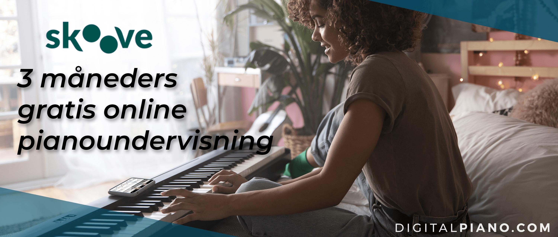 3 måneders gratis online pianoundervisning!