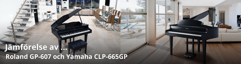 Jämförelse av Yamaha CLP-665GP och Roland GP-607
